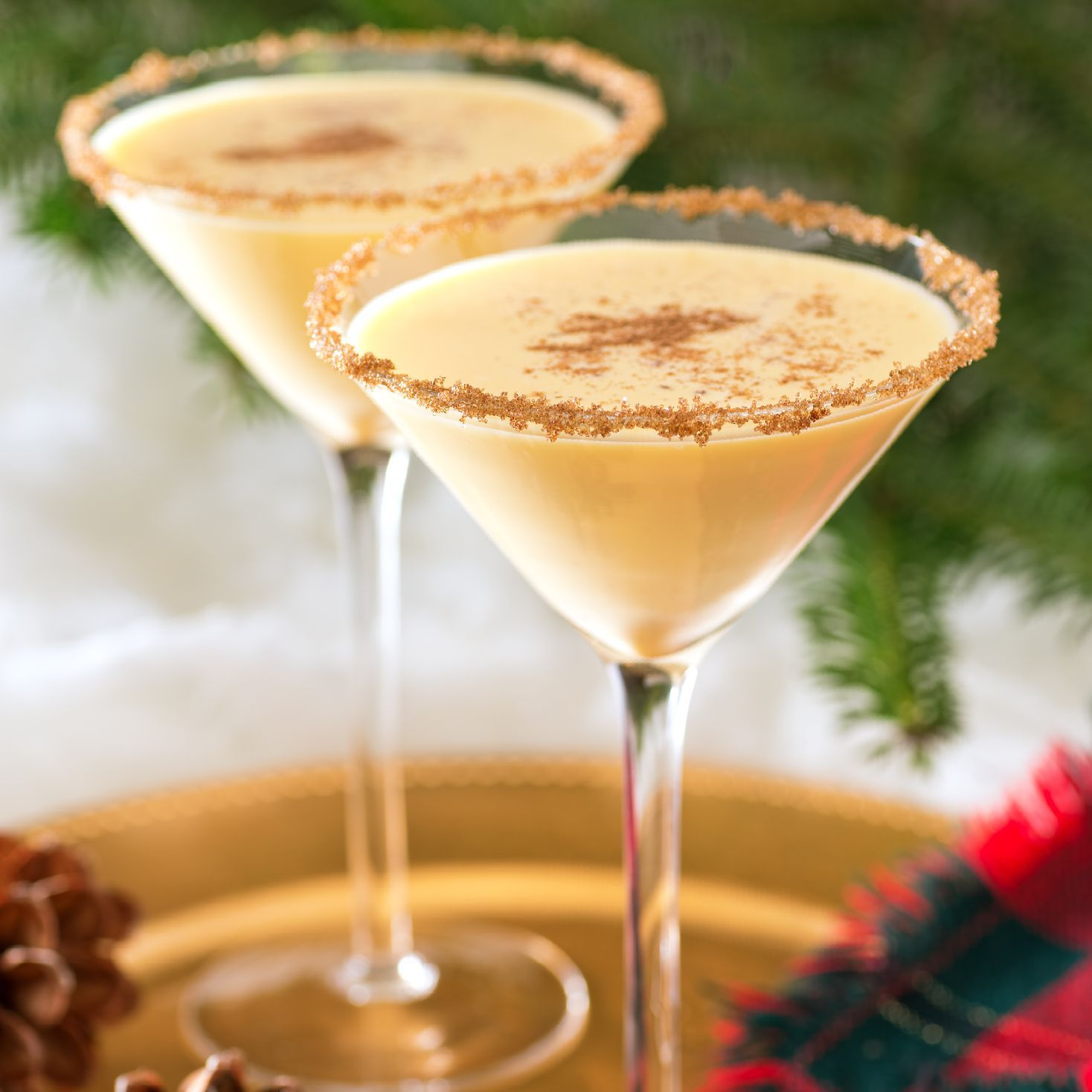 Tres Leches Martini in Glasses