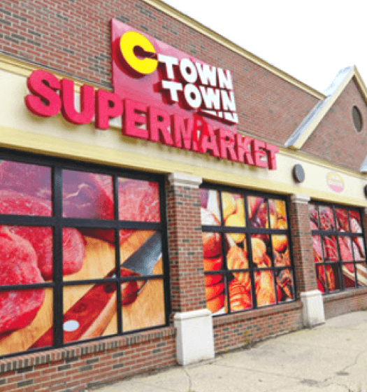 C Town Supermarket Front of Store